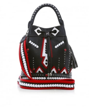 Leather Caracal Studded Bag