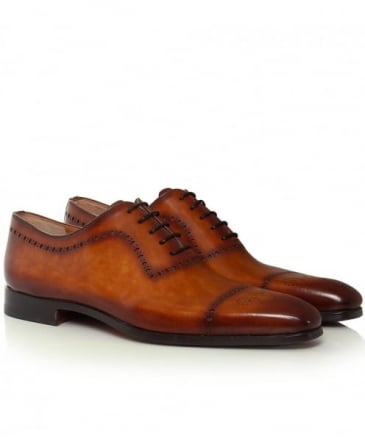 Burnished Leather Oxford Brogues