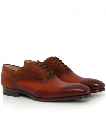 Suede & Leather Oxford Brogues