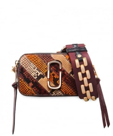 Snake Patchwork Snapshot Camera Bag