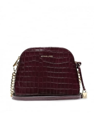 Embossed Leather Kenia Shoulder Bag