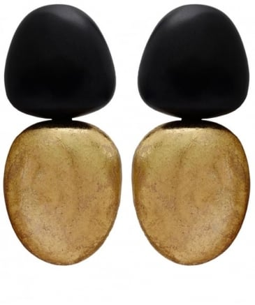 Ebony Gold Foil Earrings