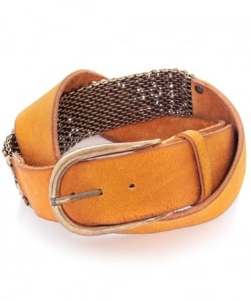 Side Studded Leather Belt