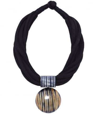 Multi Rope Stripe Pendant Necklace