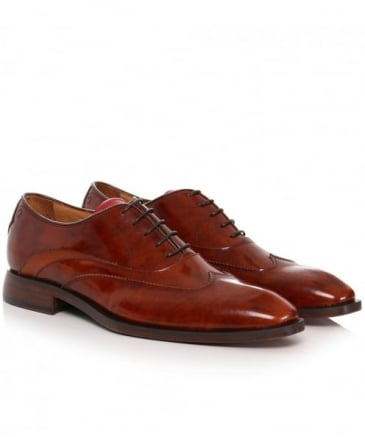 Leather High Shine Alassio Oxford Shoes