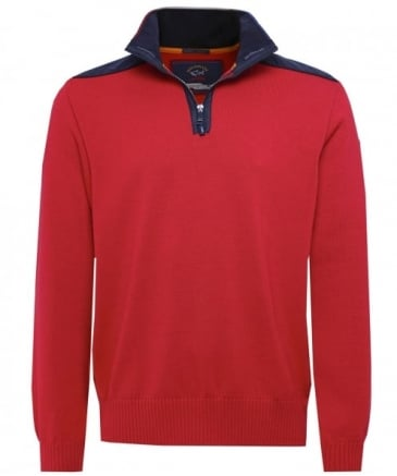 Virgin Wool Half-Zip Jumper
