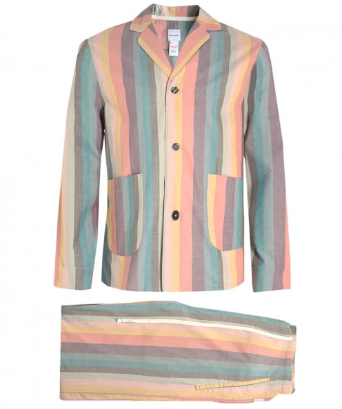 Paul Smith Künstler gestreiften Pyjama-set