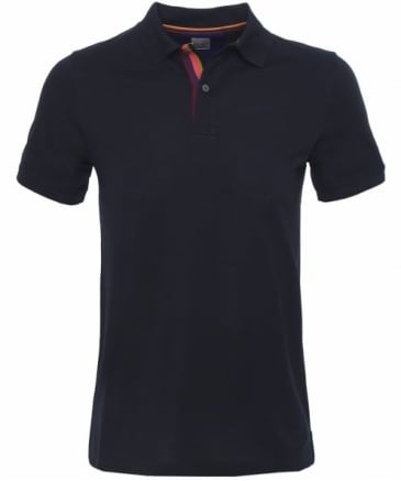 Striped Placket Polo Shirt