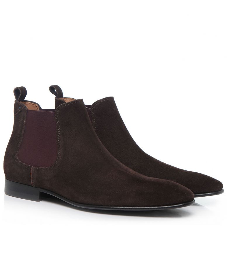 paul smith brown suede falconer chelsea boots abrufbar unter jules b. Black Bedroom Furniture Sets. Home Design Ideas