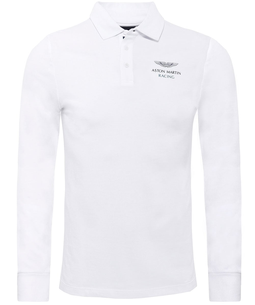 Classic fit Aston Martin racing Langarm Polo-shirt | aston martin shirt hackett