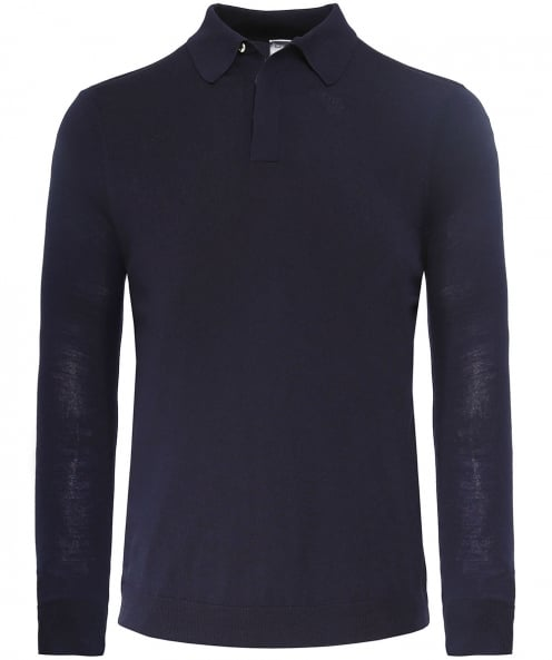 Paul Smith Merino-Wolle-Langarm-Polo-shirt