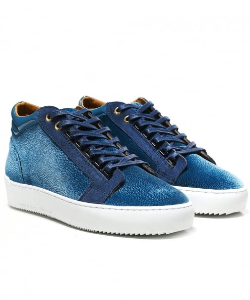 Android Homme Mid-Top Stingray Velours Antrieb Trainer