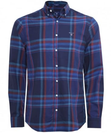 Regular Fit Wool Blend Check Shirt