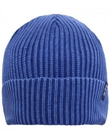 Dyed Cotton Ribbed Beanie Hat