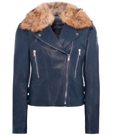 Marving-T Leather Biker Jacket