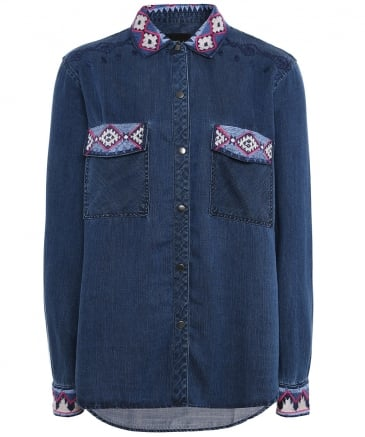 Socorro Embroidered Aztec Shirt