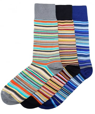 Three Pack of Striped Socks