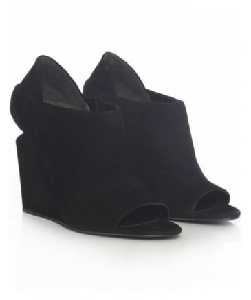 Alla Kid Suede Wedges