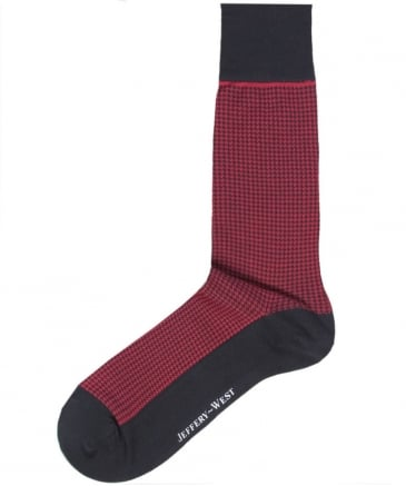Cotton Houndstooth Socks