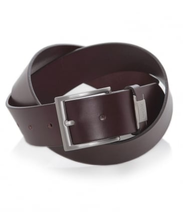 Leather C-Connio Belt
