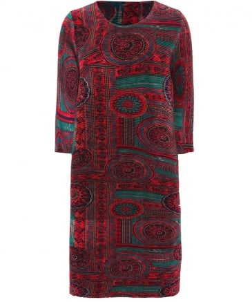 Abito Printed Pleat Dress