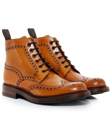 Leather Bedale Brogue Boots