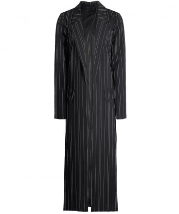 Pinstripe Trench Coat