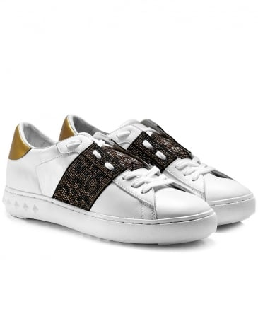 Leather Panthera Trainers