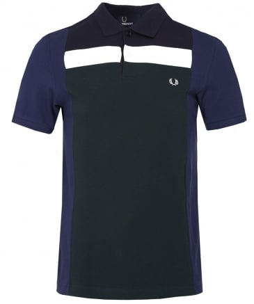Blocked Panel Polo Shirt