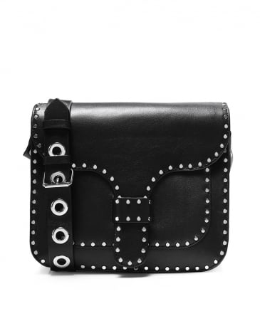 Studded Leather Midnight Shoulder Bag
