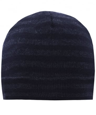 Wool Striped Beanie Hat