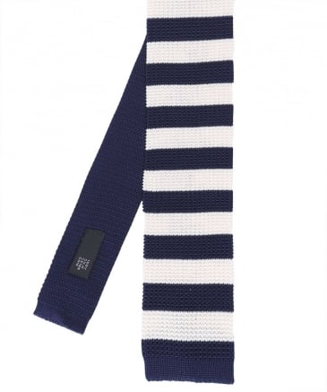 Knitted Silk Striped Tie
