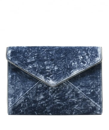Velvet Leo Envelope Clutch Bag
