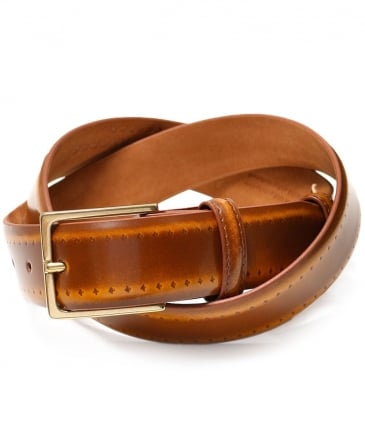 Burnished Brogue Belt