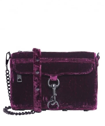 Velvet Mini Mac Crossbody Bag