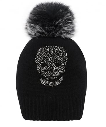 Cashmere Billy Skull Beanie Hat