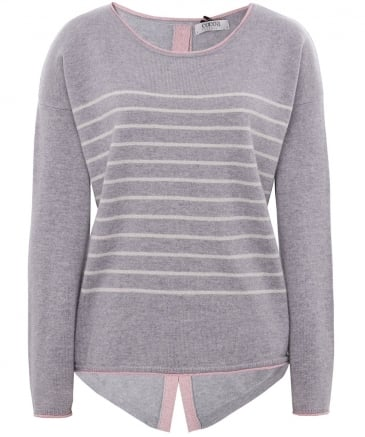 Striped Shimmering Cashmere Star Jumper