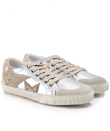 Metallic Leather Magic Trainers