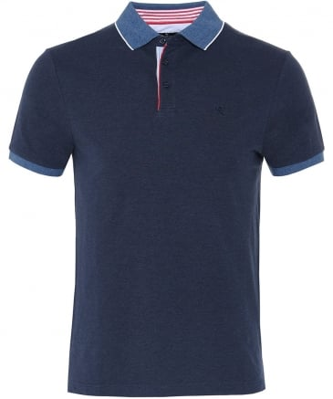 Slim Fit Seersucker Trim Polo Shirt