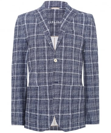 Stretch Cotton Check Jacket