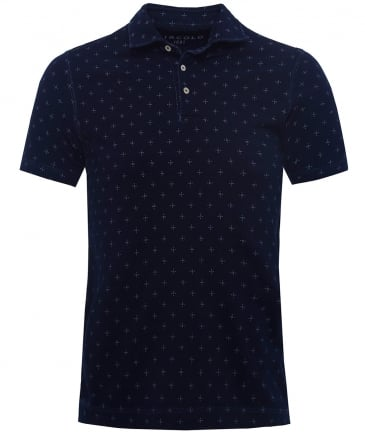Pique Cotton Printed Polo Shirt