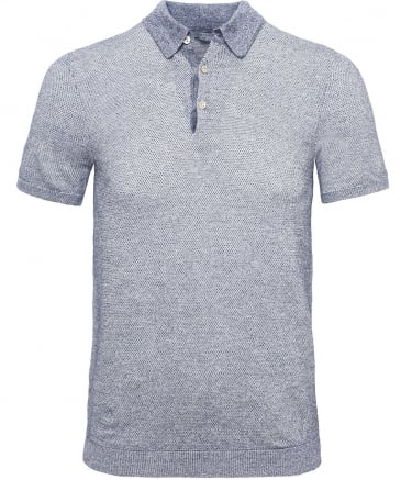 Linen Blend Knitted Polo Shirt
