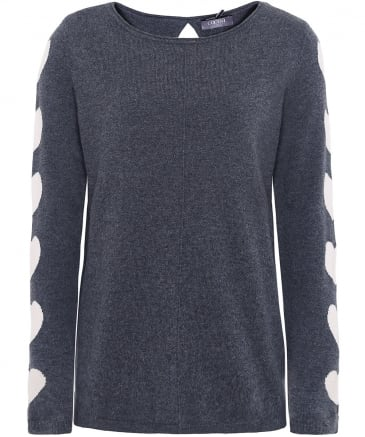 Cashmere Heart Sleeve Jumper