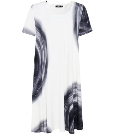 Lot Circle Print T-Shirt Dress