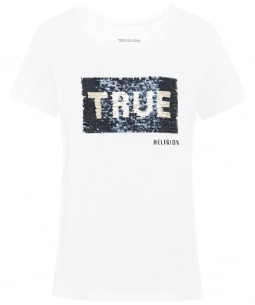 Sequin Logo T-Shirt
