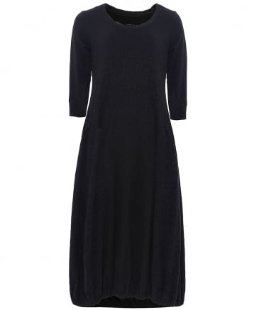 Jersey 3/4 Sleeve Midi Dress