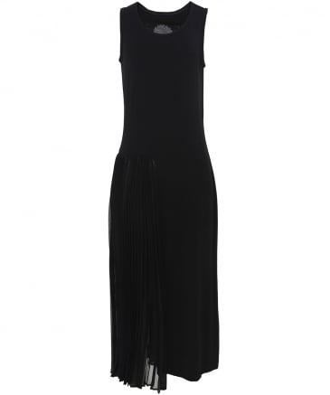 Asymmetric Pleat Dress