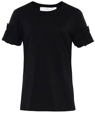 Pleated Jersey T-Shirt