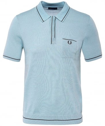 Knitted Fine Tipped Polo Shirt