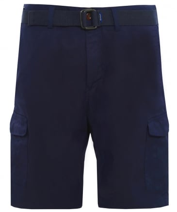 Relaxed Fit Belted Utility Shorts